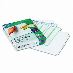 avery dennison index maker clear label divider lsr inj With avery 11447
