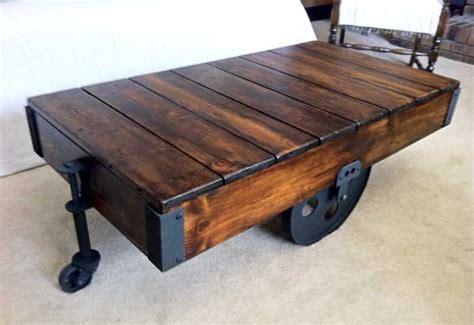 creative diy wood coffee table ideas