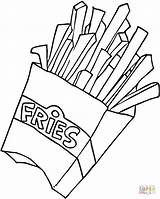 Coloring Fries French Printable Drawing Paper sketch template