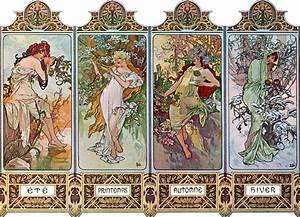 Raro Alfons Alphonse Mucha Art Nouveau Impresiones vintage ...