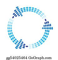 stock illustration cycle process circle arrows  clip