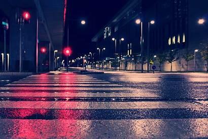 4k Lights Night Street Wallpapers Backgrounds 2051
