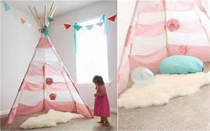 Nähen Für Das Kinderzimmer Kreative Ideen : indianer tipi zelt f rs kinderzimmer selber bauen kreative ideen tipps ~ Yasmunasinghe.com Haus und Dekorationen