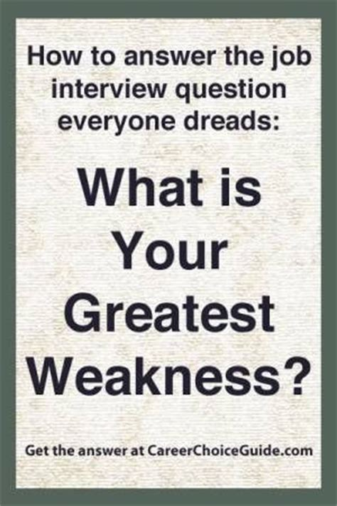Question What Is Your Weakness Exles by How To Answer The Question What Is Your