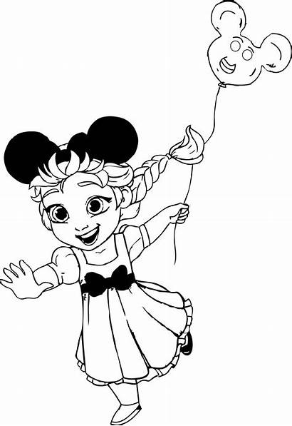 Coloring Elsa Disneyland Pages Frozen Disney Sheets