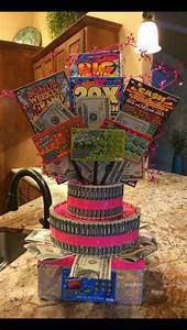 raffle ticket signs money cake with lottery tickets arts crafts