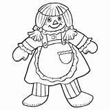 Rag Coloring Doll Colouring Pages Ragdoll Hokeypokey Getcolorings Hokey Pokey Printable Getdrawings sketch template