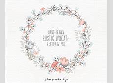 Floral wreath Hand drawn floral wreath clipart Wedding
