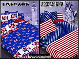 sprei anak motif bendera inggris dan amerika pojok sprei