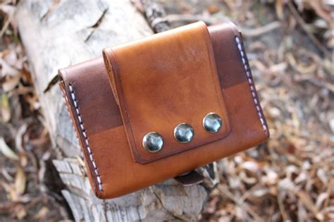 canadian bushcraft leather pouch  bushcraft canada