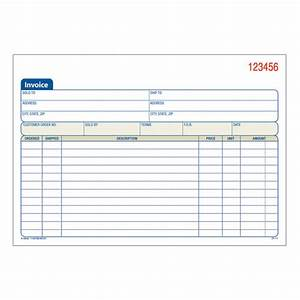 Adams 3 part carbonless invoice book office supplies for Oil change invoice template