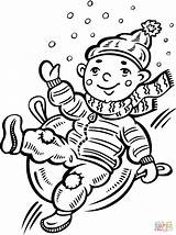 Coloring Snow Sliding Down Hill Pages Child Covered Boy Drawing Winter Printable Sheets Snowman Read Speech Therapy Ice Activities Shoveling sketch template