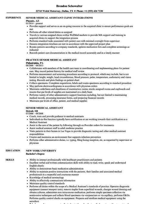 Assistant Resume by Senior Assistant Resume Sles Velvet