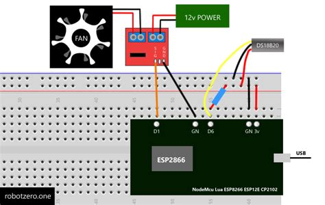 Esp Fan Speed Control With Dsb Temperature Sensor