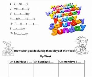 practicing days of the week With days of the week vinyl letters