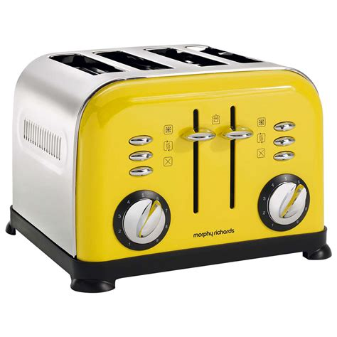 Yellow Toaster by Morphy Richards Accents 4 Slice Toaster Lemon Yellow