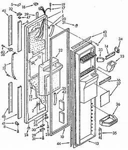 Freezer Door Diagram  U0026 Parts List For Model 1069515710