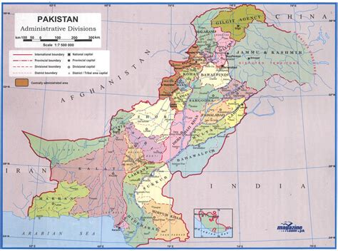 pakistan map political regional maps  asia regional