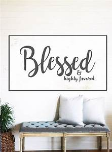 blessed sign rustic sign gift for home decor farmhouse