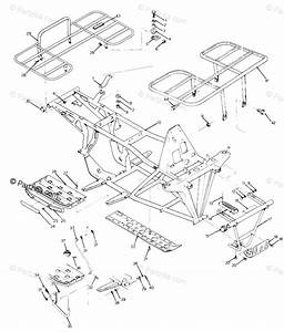 Polaris Atv 1989 Oem Parts Diagram For Frame Assembly With