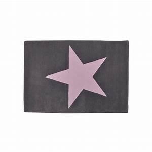 Tapis Etoile Gris : tapis laine gris etoile rose lorena canals ~ Teatrodelosmanantiales.com Idées de Décoration