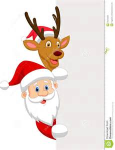 The Red Nose Reindeer with Santa Cartoon