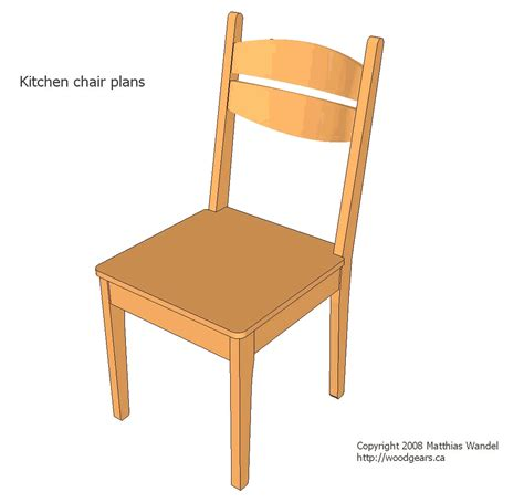 woodwork kitchen chair plans pdf plans