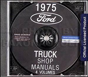 1975 Ford Truck Shop Manual On Cd 75 Pickup Van Bronco