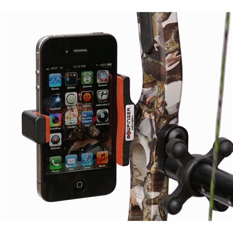 bow phone mount bowfinger 3 0 smartphone mount american bowhunter