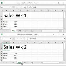 View Multiple Worksheets In Excel  Easy Excel Tutorial