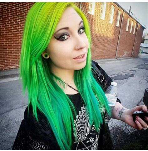 Hair Colors For With Green by 95 Best Green Hair Images On
