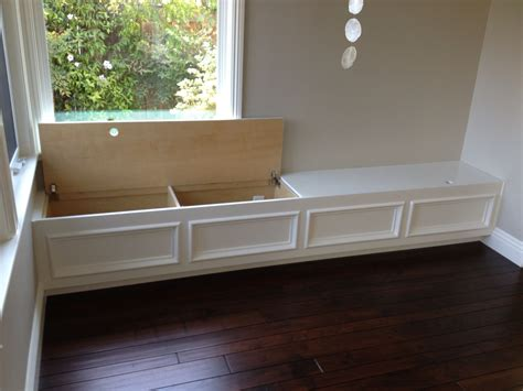 Storage Bench Seat With Back by Built In Bench Seat With Storage Put Along Wall In Family