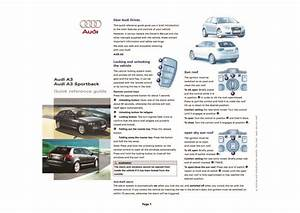 2007 Audi A3 Sportback Quick Reference Guide Pdf  330 Kb