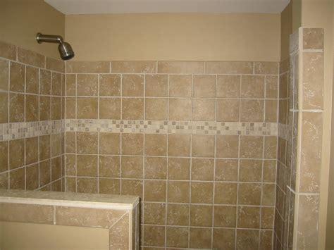 Shower Half Wall, Tile