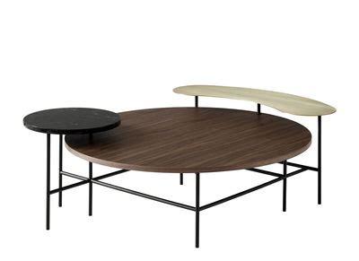 Table basse Palette JH25 u0026tradition - Noir / Laiton / Bois naturel - L 118 x larg 103 x H 42 cm ...