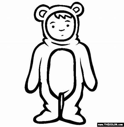Costume Coloring Bear Teddy Para Colorear Disfraces