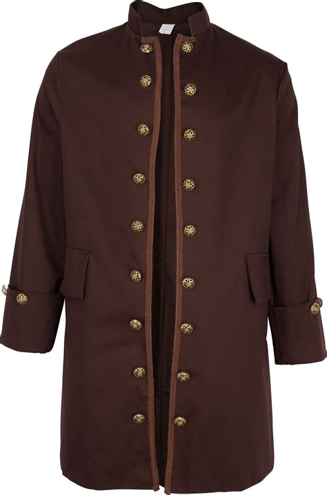 men s brown civilian militia coat