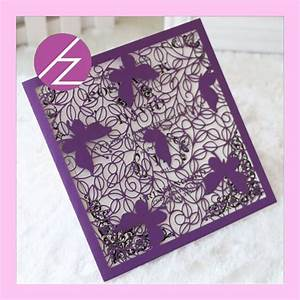 50pcs Laser Cut Butterfly Indian Wedding Card Design
