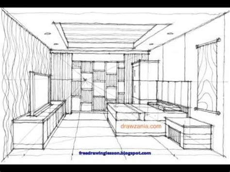 Sketching Interior (a Living Room) By Miandza Youtube