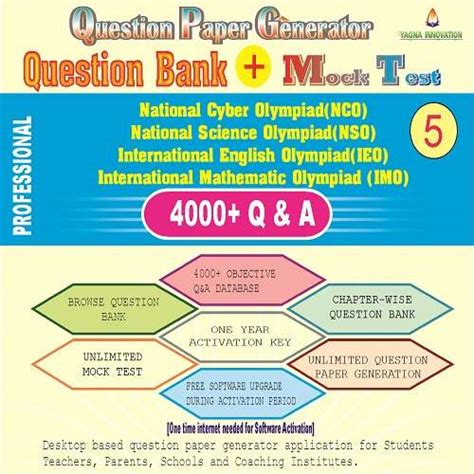 Nconsoieoimo (class5) Question Bank + Mock Test + Question Paper Generator