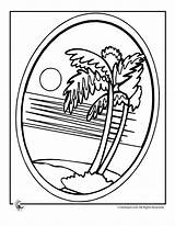 Palm Tree Colouring Luau Coloring Pages Hawaii Beach Printables Hawaiian Party Button Printer Send Special Activities Bingo Games Popular sketch template
