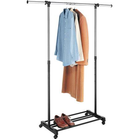 laundry rack walmart whitmor deluxe adjustable garment rack chrome black