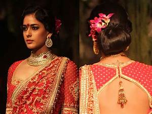 Hairstyles With Lehenga Indian Hairstyles Top Knot