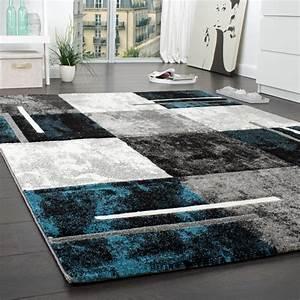 Teppich Modern Wohnzimmer : teppich petrol grau ~ Lizthompson.info Haus und Dekorationen