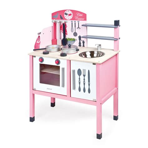 maxi cuisine mademoiselle janod pink play kitchen accessories deluxe maxi cuisine set