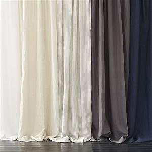Belgian Flax Linen Curtain - Slate west elm