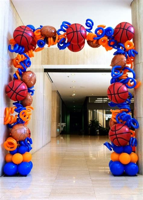 Checkout the ultimate collection of basketball room decor ideas and products. Basketball Arch.JPG | BALLOON ARCHES DALLAS | Basketball theme party, Basketball birthday ...