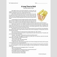 A Long Time To Wait  Reading Comprehension Worksheet