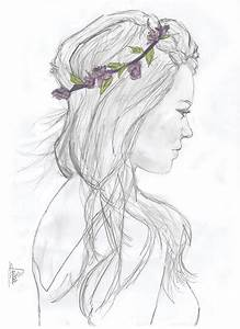 The gallery for --> Girl With Flower Crown Drawing Tumblr