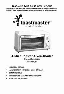 Toastmaster Toaster Oven Manual L0902383